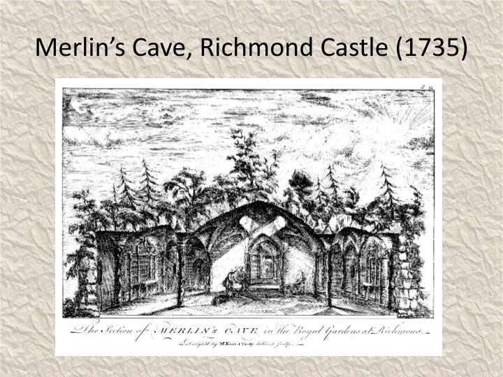 Merlin's Cave, Richmond Castle (1735)