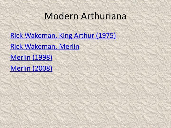 Modern Arthuriana