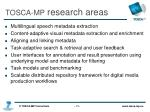 tosca mp research areas