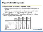 ofgem s final proposals