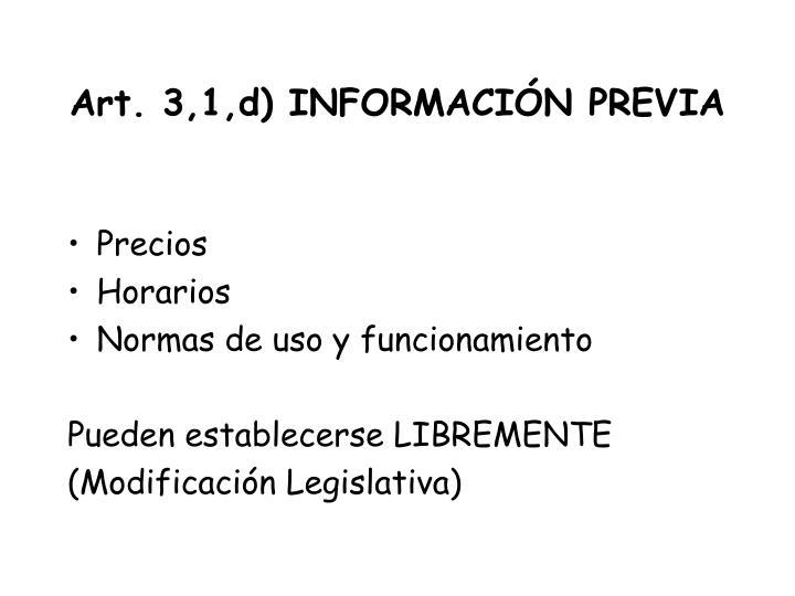Art. 3,1,d) INFORMACIÓN PREVIA