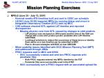mission planning exercises
