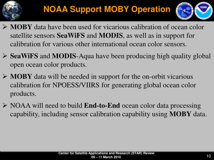 NOAA Support MOBY Operation
