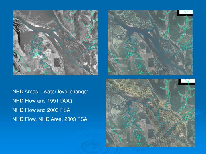 NHD Areas – water level change: