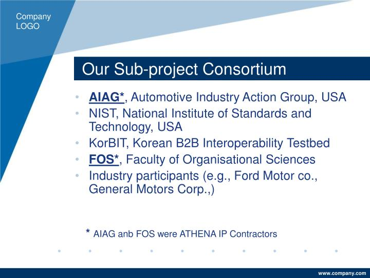Our Sub-project Consortium