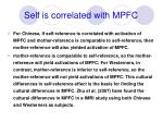 self is correlated with mpfc1