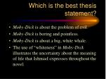 which is the best thesis statement