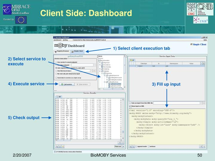 Client Side: Dashboard