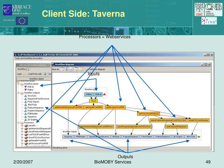 Client Side: Taverna
