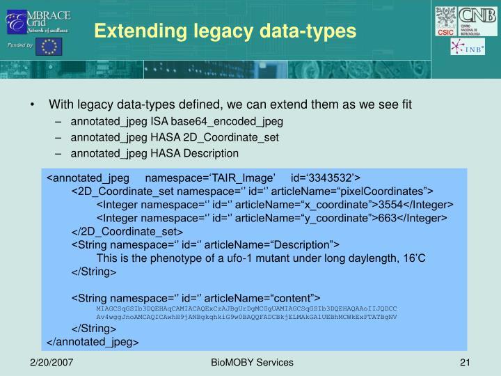Extending legacy data-types