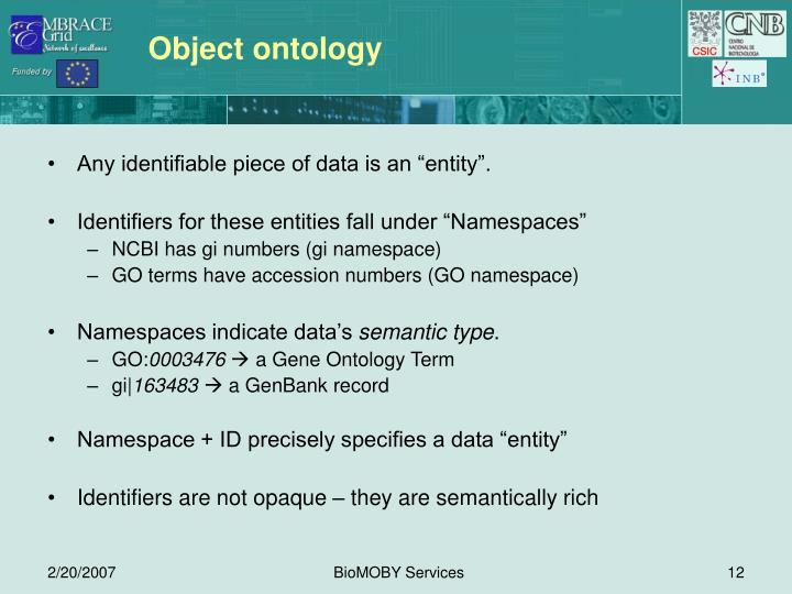 Object ontology