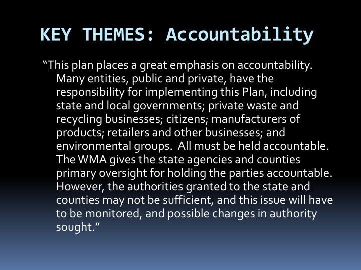 KEY THEMES: Accountability