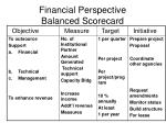 financial perspective balanced scorecard1