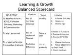 learning growth balanced scorecard