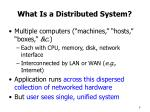 what is a distributed system