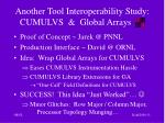another tool interoperability study cumulvs global arrays
