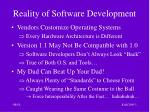reality of software development