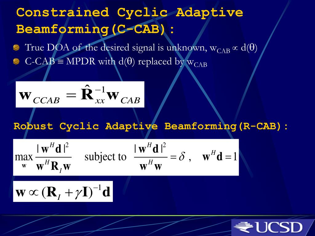 PPT - Blind Beamforming for Cyclostationary Signals PowerPoint