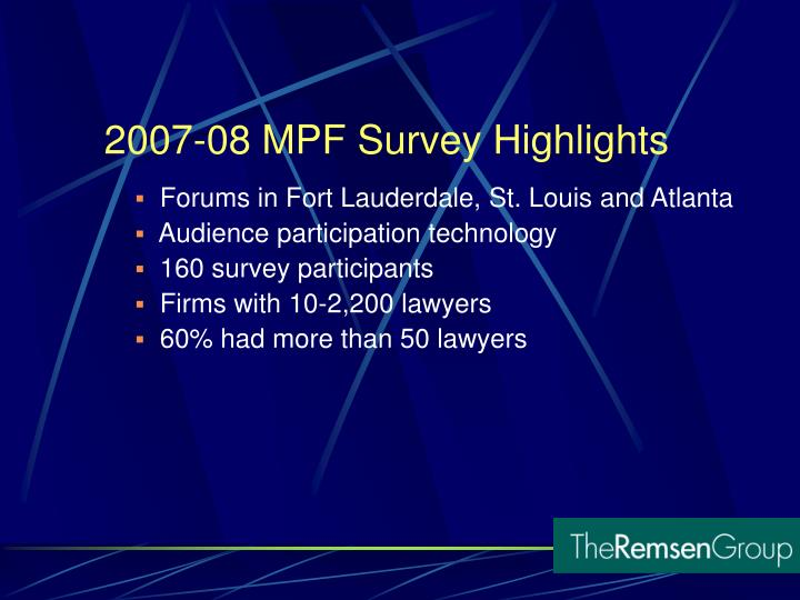 Forums in Fort Lauderdale, St. Louis and Atlanta
