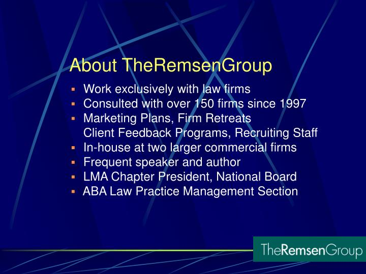 About theremsengroup