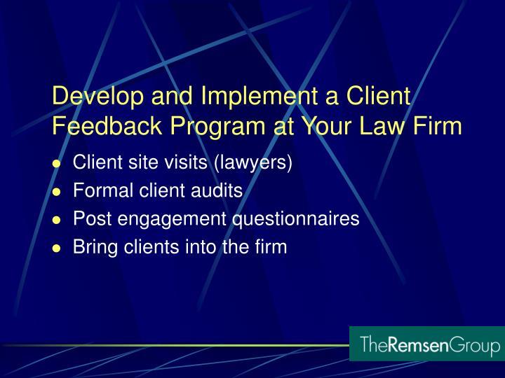 Client site visits (lawyers)
