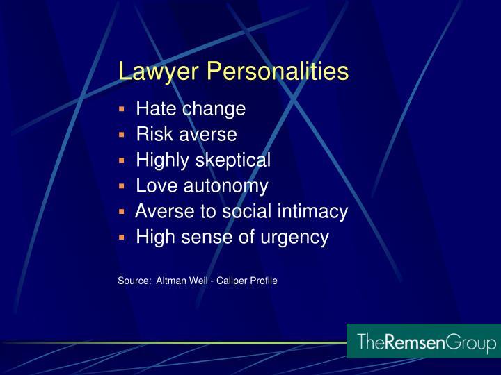 Lawyer Personalities
