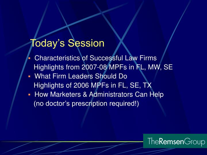 Characteristics of Successful Law Firms