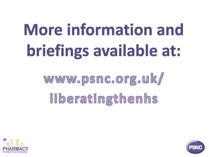 More information and briefings available at: