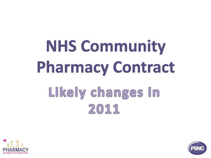 NHS Community Pharmacy Contract