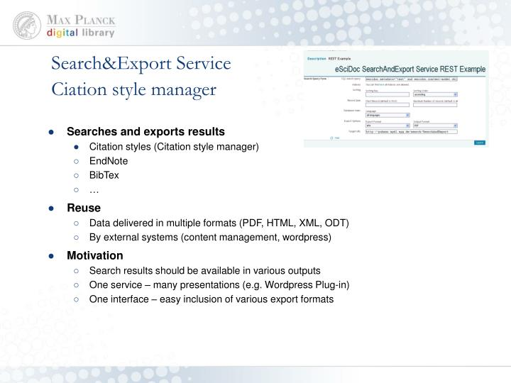 Search&Export Service