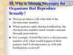 m why is meiosis necessary for organisms that reproduce sexually