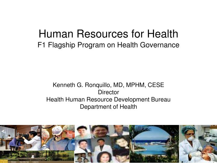human resources for health f1 flagship program on health governance n.