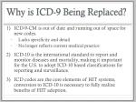 why is icd 9 being replaced