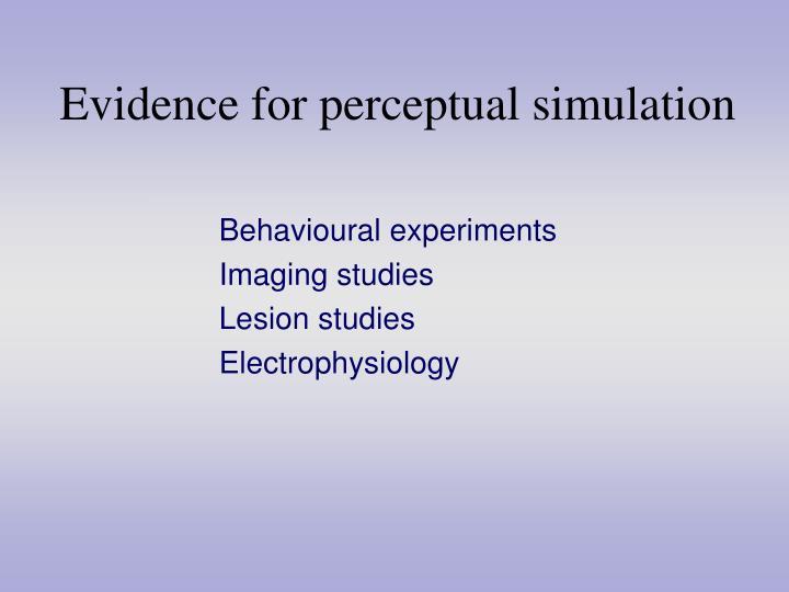 Evidence for perceptual simulation