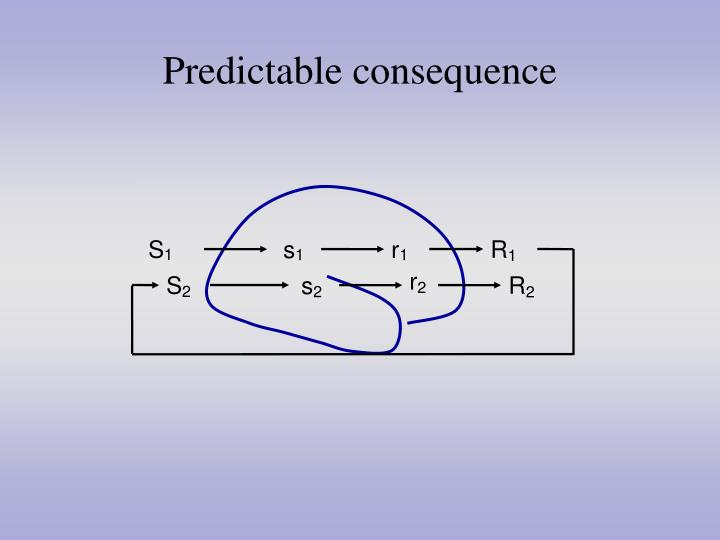 Predictable consequence