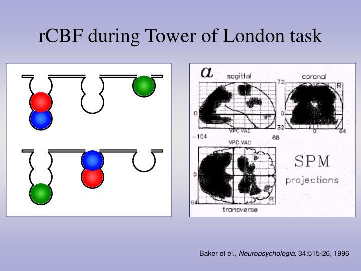 rCBF during Tower of London task