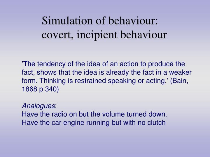 Simulation of behaviour: