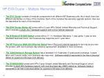 hp eva cluster multiple warranties