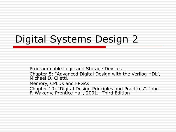 Ppt Digital Systems Design 2 Powerpoint Presentation Free Download Id 4359962
