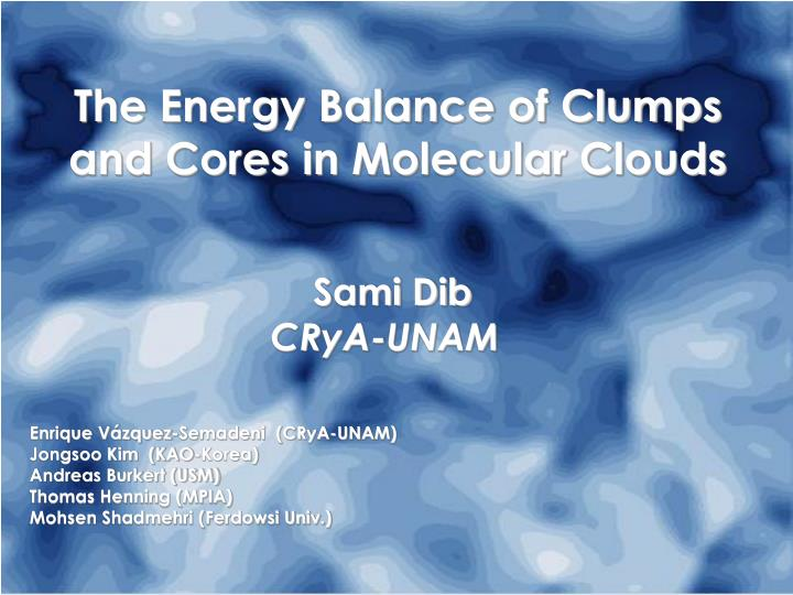 The Energy Balance of Clumps and Cores in Molecular Clouds
