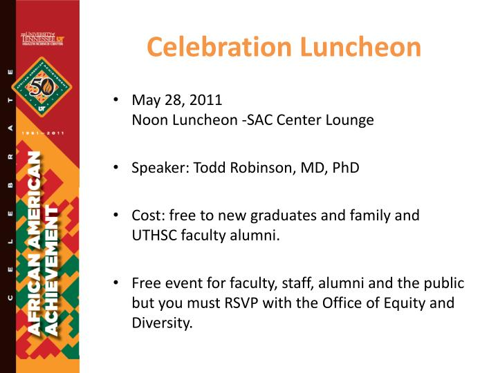 Celebration Luncheon