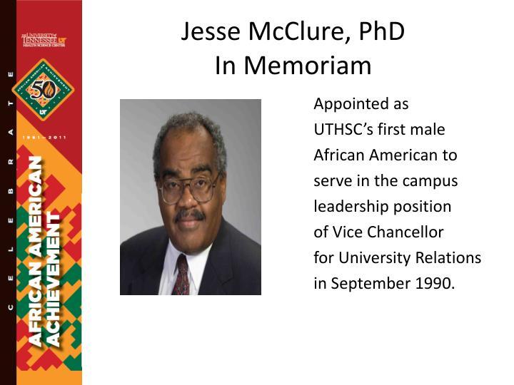 Jesse McClure, PhD