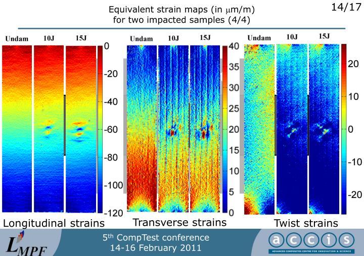 Equivalent strain maps (in