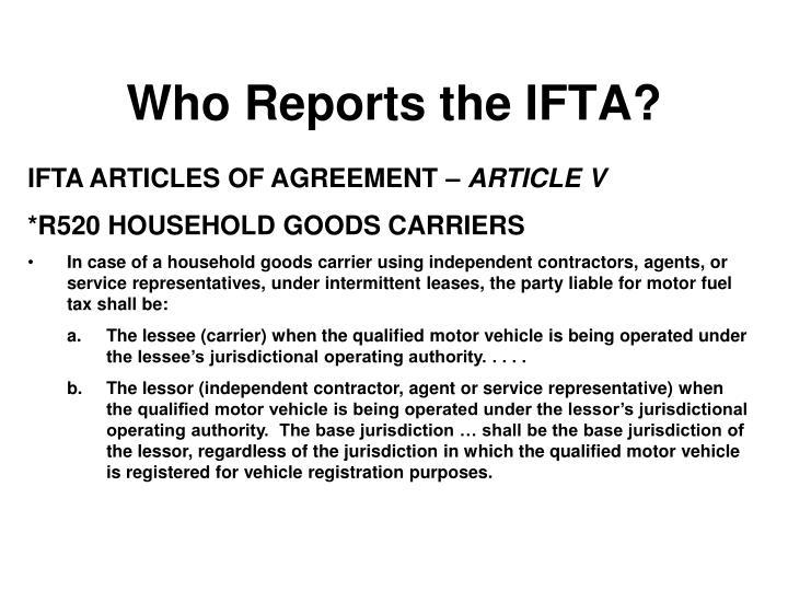 ifta articles or reviews regarding agreement