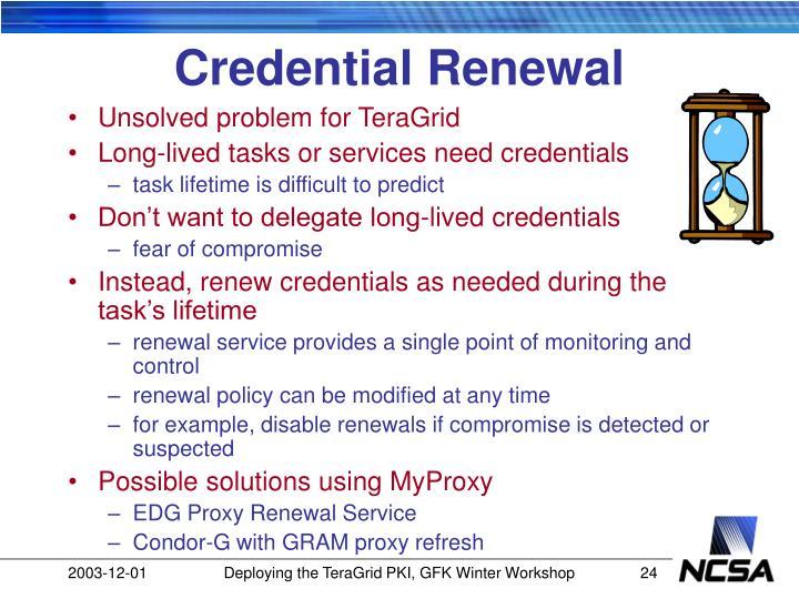 Credential Renewal