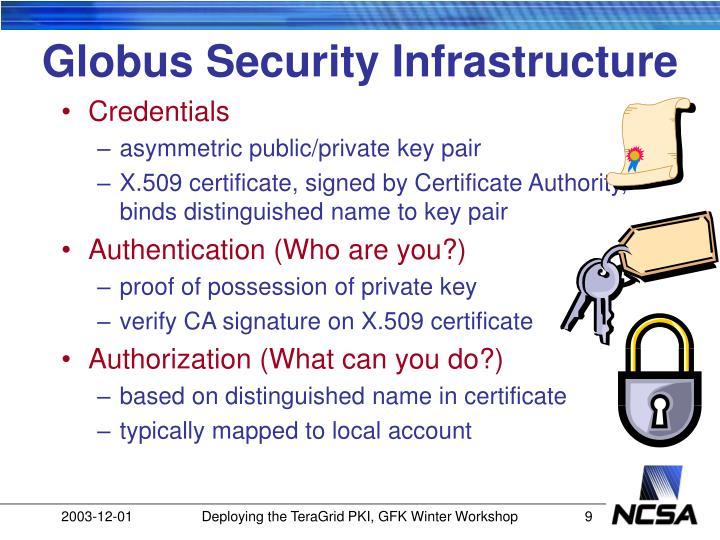 Globus Security Infrastructure