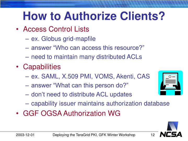 How to Authorize Clients?