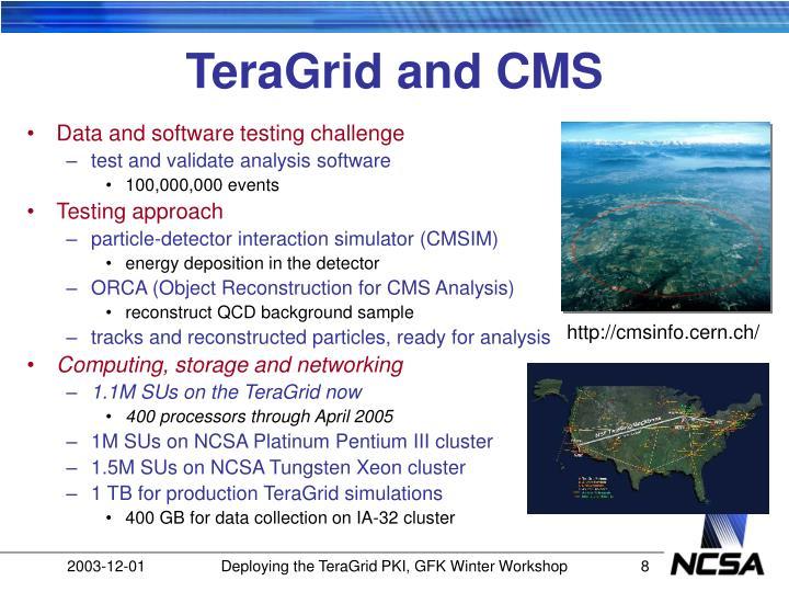 TeraGrid and CMS