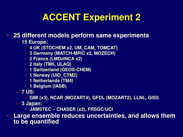 accent experiment 2 n.