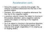 acceleration cont